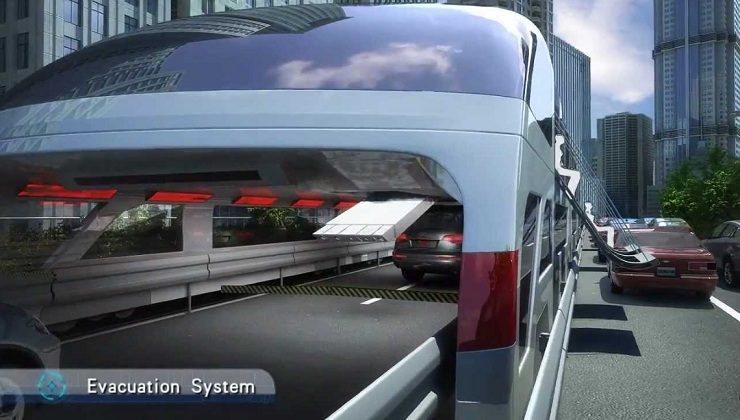 Incredible way of Future Transportation-Straddling Bus
